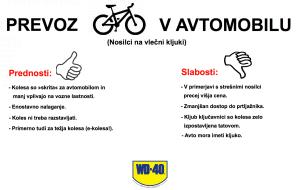 Prevoz koles: Na strehi, na kljuki ali v avtu?